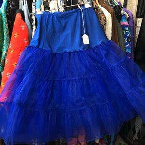 Royal Blue petticoat size large